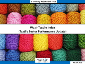 Wazir Textile Index Report - 9MFY18-01